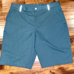 Under Armour thin striped men's casual golf shorts